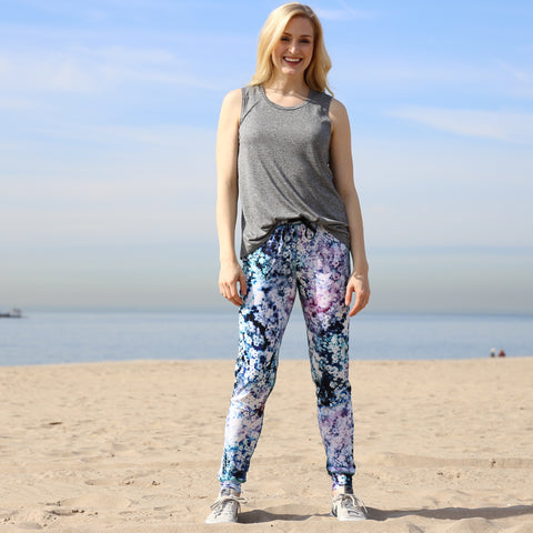 Jogger Pants in Floral Haze Print