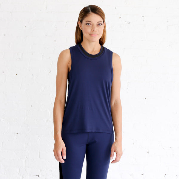 Muscle Tank in Navy