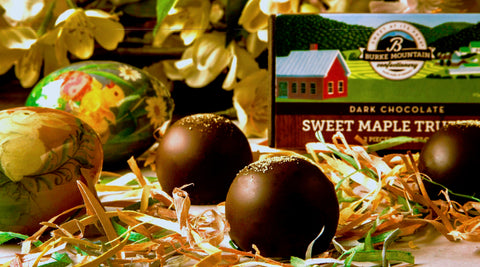Dark Chocolate Sweet Maple Truffles
