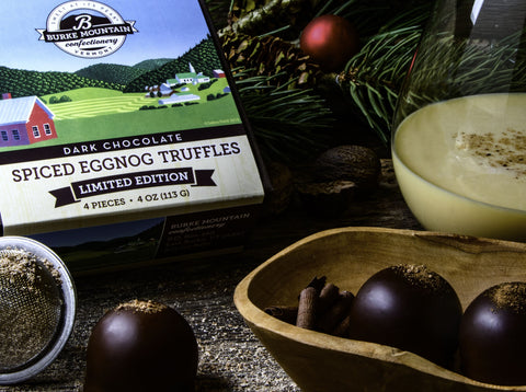 Dark Chocolate Spiced Eggnog Truffles - Limited Edition