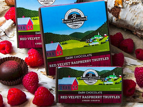 Red Velvet Raspberry Truffles
