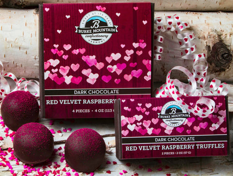 Red Velvet Raspberry Truffles with Festive Heart Cover