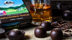 Dark Chocolate Maple Bourbon Truffles