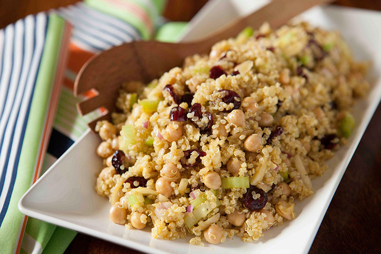 Healthy quinoa salad with olive oil
