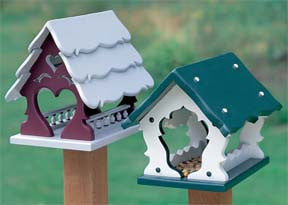 Country Bird or Squirrel Feeders - scroll saw patterns and projects