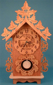 Wildlife Pendulum Clock Patterns - scroll saw patterns and projects
