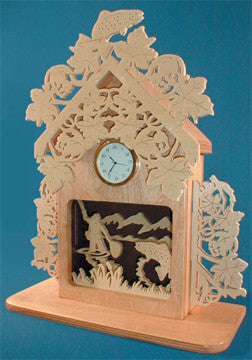 Fisherman's Box Clock Patterns - scroll saw patterns and projects