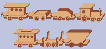 3 Foot Toy Train Patterns - scroll saw patterns and projects