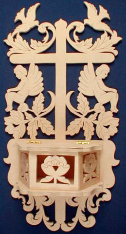 Angel & Cross Adorned Wall Box