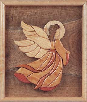 Scroll saw pattern for Angel intarsia pattern