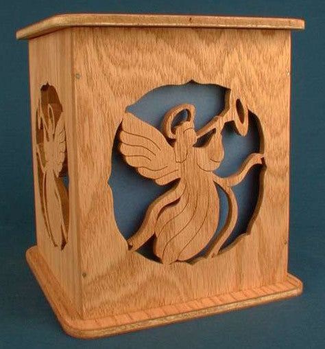 Angel Tissue Box Cover Pattern - scroll saw patterns and projects