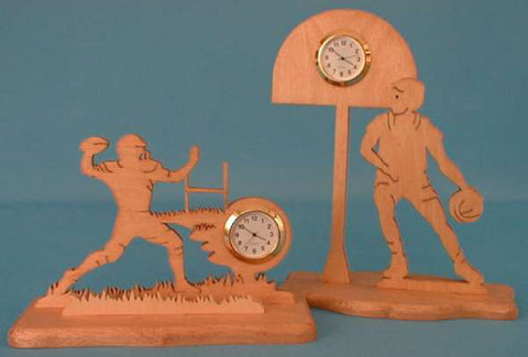 Football & Basketball Mini Clocks Patterns Set