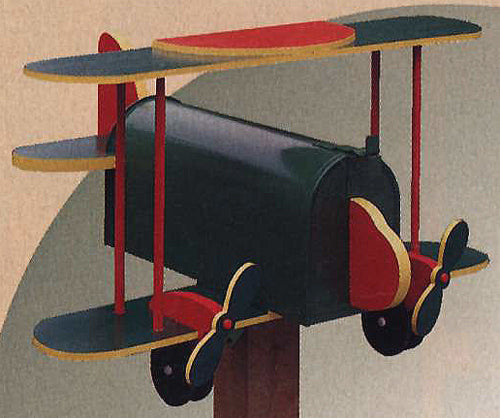Bi-Plane Novelty Mail Box Patterns