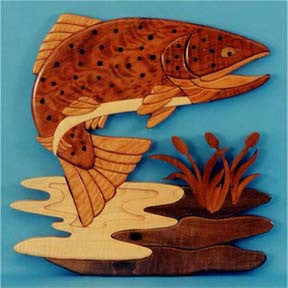 Brown Trout Intarsia Scroll Saw Pattern
