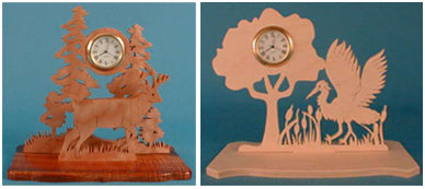 Buck & Heron Mini Clock Patterns