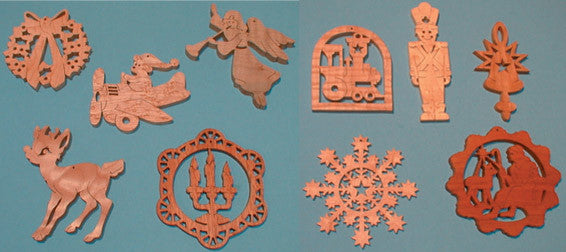 Downloadable Christmas Ornament Pattern Pack
