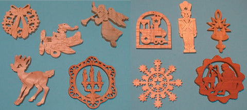 Downloadable Christmas Ornament Pattern Pack - scroll saw patterns and projects
