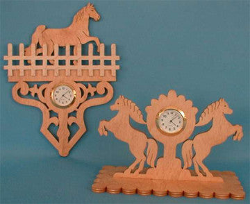 Country Horse Mini Clock Patterns - scroll saw patterns and projects