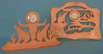 Coyote Southwest Mini Clock Patterns - scroll saw patterns and projects