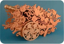 Detailed Grapevines Wine Bottle Holder Patterns - scroll saw patterns and projects