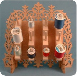 Sewing thread holder organizer woodworking and scroll saw pattern