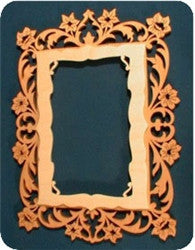Large Floral Picture Frame Pattern