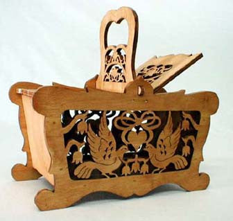 Country Birds Hinged Basket Pattern - scroll saw patterns and projects