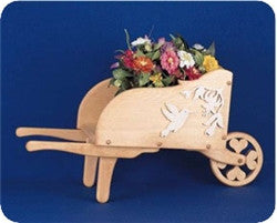 Wheelbarrow woodworking plan and scroll saw patterns