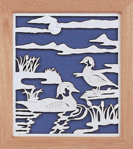 Wood Duck Haven Fretwork Pattern - scroll saw patterns and projects