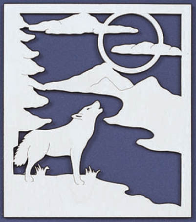 Cry of the Wolf Fretwork Pattern - scroll saw patterns and projects