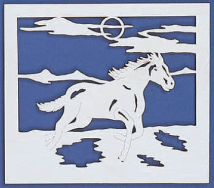 Horse Running Free Fretwork Pattern - scroll saw patterns and projects