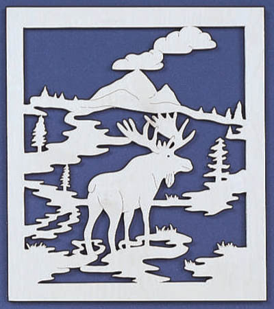 Moose Territory Fretwork Scroll Saw Pattern Simple Christmas Scroll Saw Patterns
