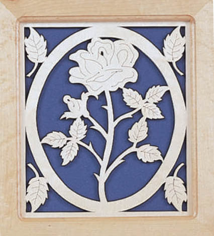 Detailed Rose Fretwork Pattern - scroll saw patterns and projects