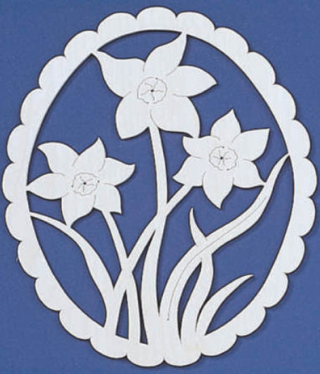 Springtime Daffodils Fretwork Pattern - scroll saw patterns and projects