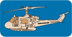Military Huey Helicopter Scroll Saw Pattern