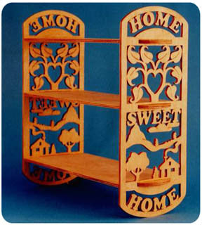 Home Sweet Home Scrolled Shelf Patterns - scroll saw patterns and projects