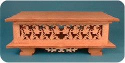 Floral Curio Music Box Pattern - scroll saw patterns and projects