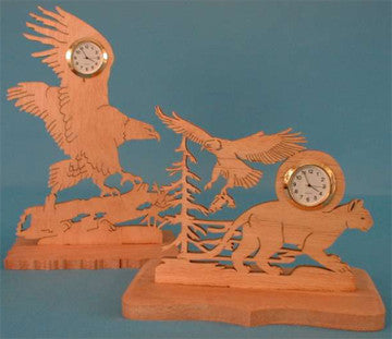 Eagle Mini Clock Patterns - scroll saw patterns and projects
