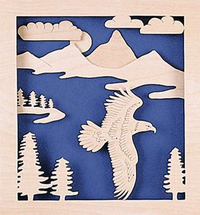 3D Soaring Eagle Fretwork Pattern