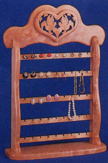 Ear Ring Organizer Pattern - scroll saw patterns and projects