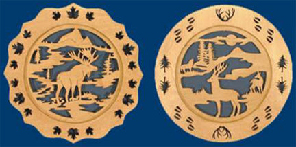 Elk & Deer Plates Fretwork Patterns