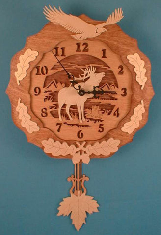 Elk & Eagle Pendulum Clock Patterns