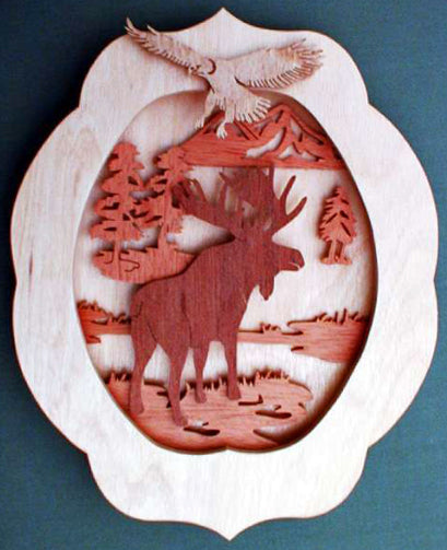 Elk & Eagle 3D Fretwork Patterns