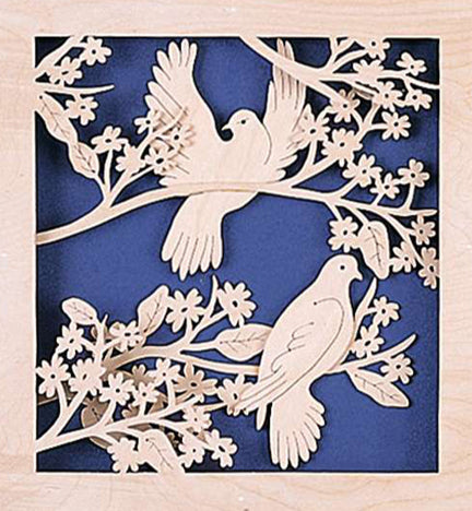 3D Enchanting Doves Fretwork Pattern