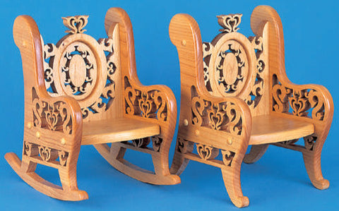 Ornate Victorian Doll Chair & Rocker Patterns - scroll saw patterns and projects