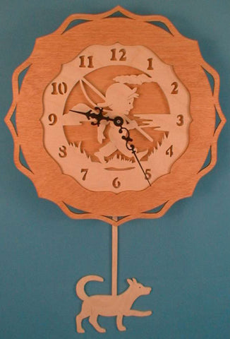Tom Boy Fishing Pendulum Clock Patterns