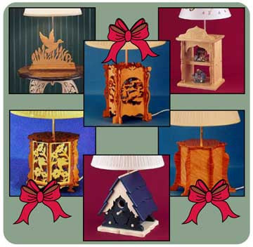Scrolled Lamp Patterns Collection -- for Download - scroll saw patterns and projects
