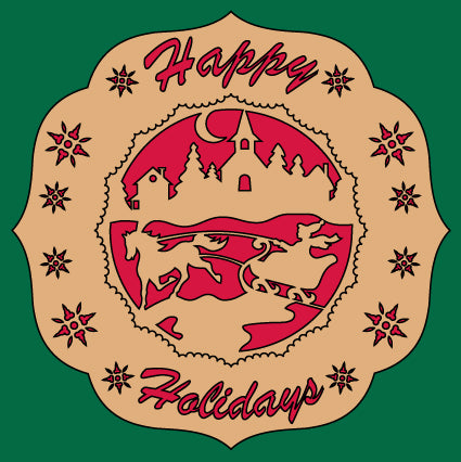 Happy Holidays Plate Pattern
