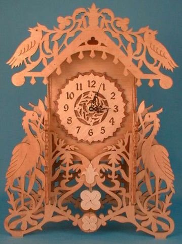 Ornate Heron Mantle Clock Pattern