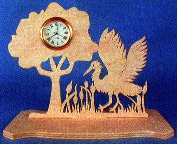 Ruffling Heron Mini Clock Patterns